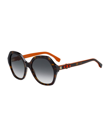 Studded Two-Tone Acetate Sunglasses