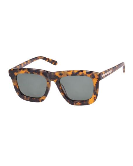 Karen Walker Deep Worship Square Monochromatic Sunglasses, Brown