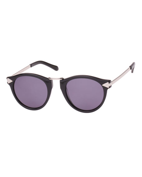 Karen Walker Helter Skelter Monochromatic Round Sunglasses