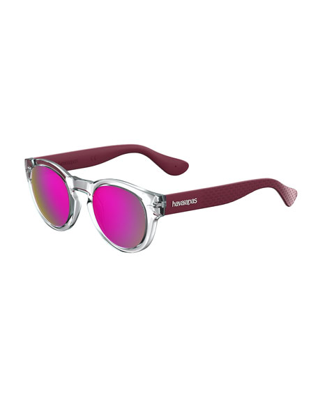 Trancosom Clear Sunglasses w/ Rubber Arms