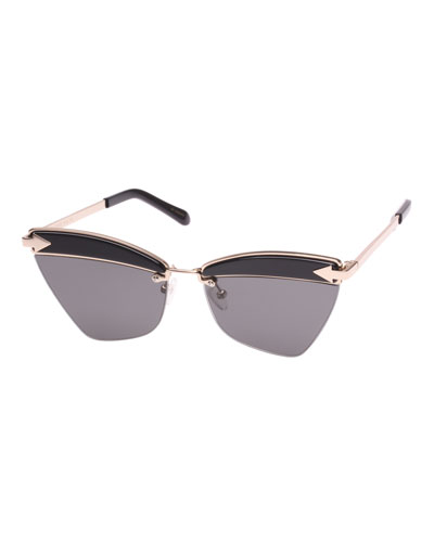 Sadie Cat-Eye Geo Sunglasses