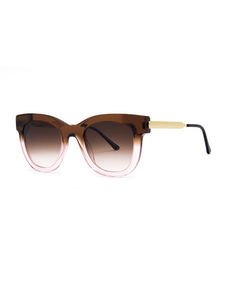 Thierry Lasry SEXXXY OMBRE ACETATE/METAL SUNGLASSES, PINK/BROWN