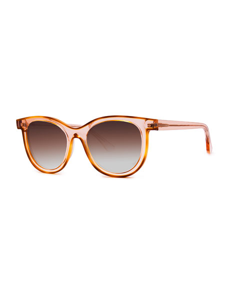 Thierry Lasry VACANCY TRANSPARENT GRADIENT SUNGLASSES, PINK PATTERN