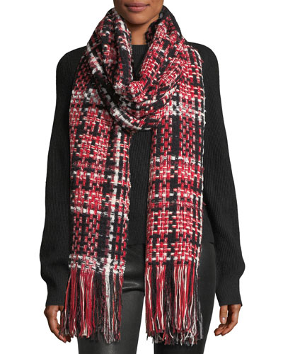 Linton Tweed Fringed Wool-Blend Scarf