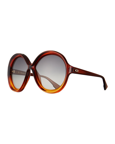 DiorBianca Two-Tone Butterfly Sunglasses