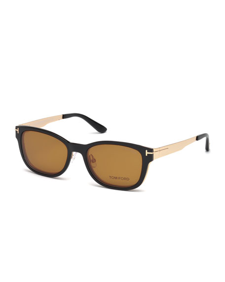 Ophthalmic Square Optical Frames w/ Magnetic Sun Lenses