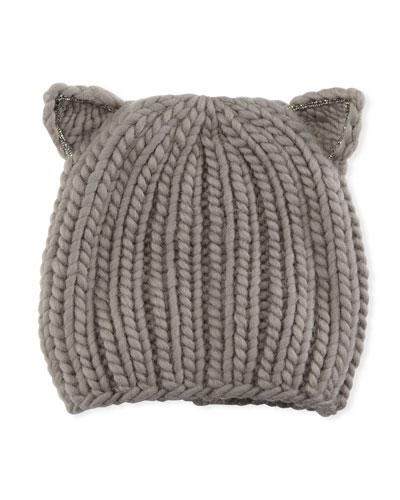 Felix Wool Cat-Ears Beanie Hat