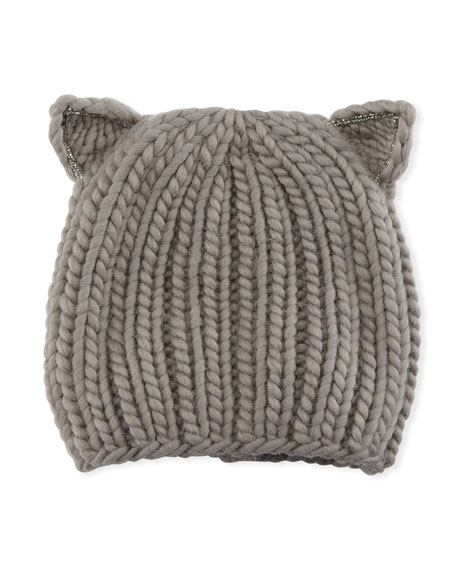 Felix Wool Cat-Ears Beanie Hat