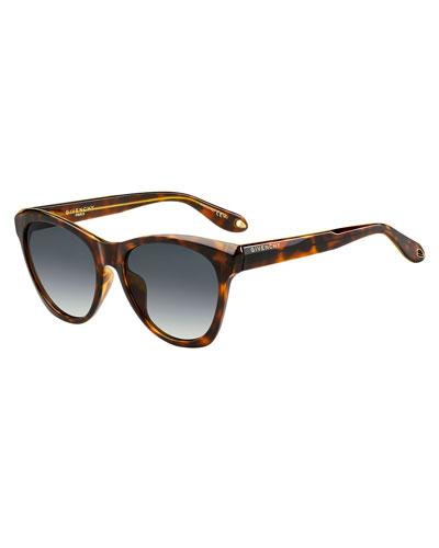 Square Faceted Gradient Sunglasses