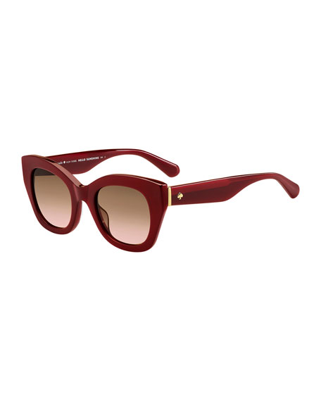 kate spade new york acetate cat-eye sunglasses