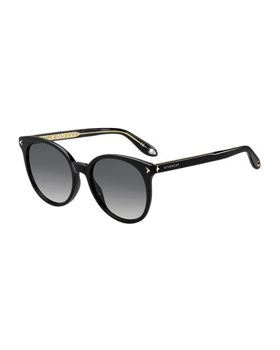 Round Gradient Acetate Sunglasses