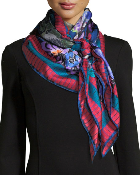 Jane Carr The Découpage Silk Twill Square Scarf