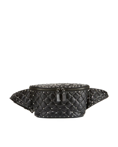 Rockstud Quilted Leather Belt Bag