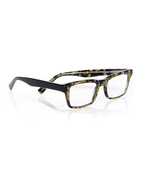Fare N Square Pearlescent Readers, Black/Gold