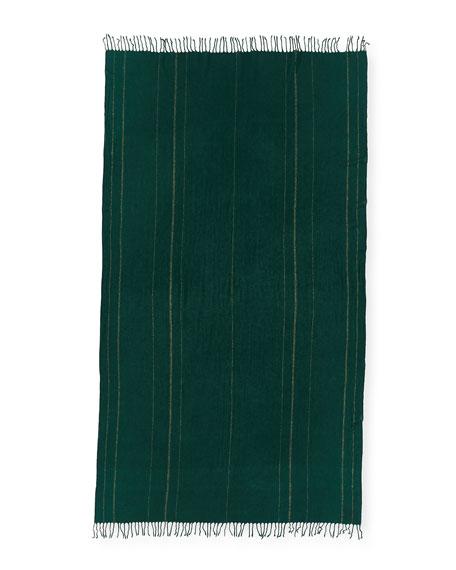 Oversized Cashmere Scarf w/ Fringe
