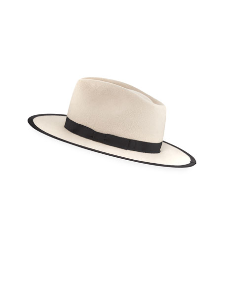 Cher Two-Tone Felt Panama Hat