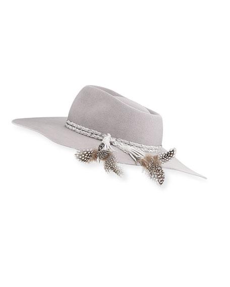 Pallenberg Felt Hat w/ Braided Band & Feather Tassel Trim