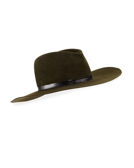 Marianne Felt Cowboy Hat w/ Snakeskin Band