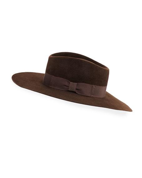 Faye Felt Panama Hat w/ Grosgrain Band