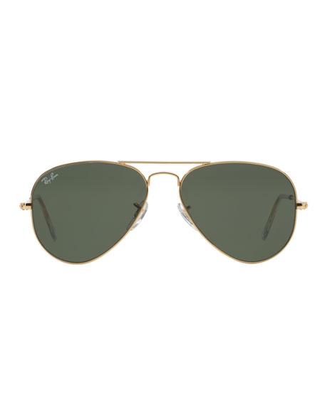 28c7d52a97 Ray-Ban Monochromatic Metal Aviator Sunglasses