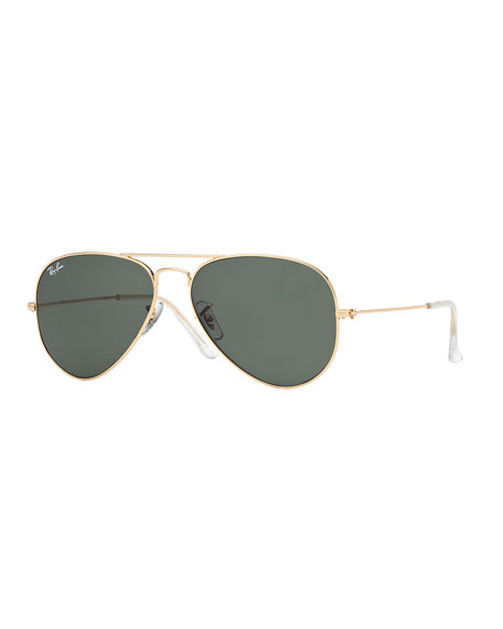 fc8fea5f1ff Ray-Ban Monochromatic Metal Aviator Sunglasses