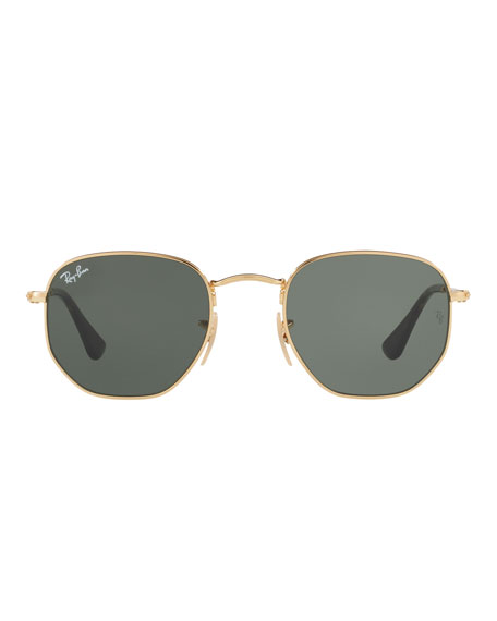 Square Metal Keyhole Sunglasses