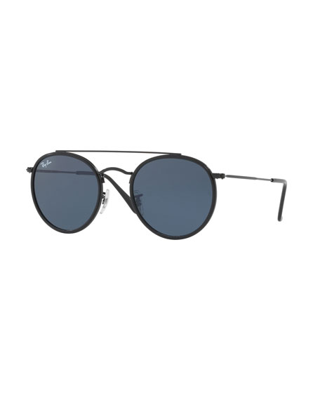 Ray-Ban Monochromatic Round Metal Sunglasses