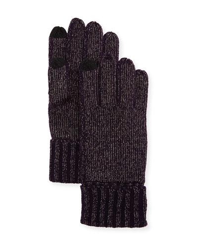 Lurex® Knit Touch-Screen Gloves
