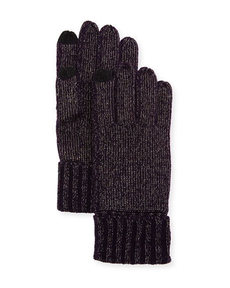 Sofia Cashmere Lurex® Knit Touch-Screen Gloves