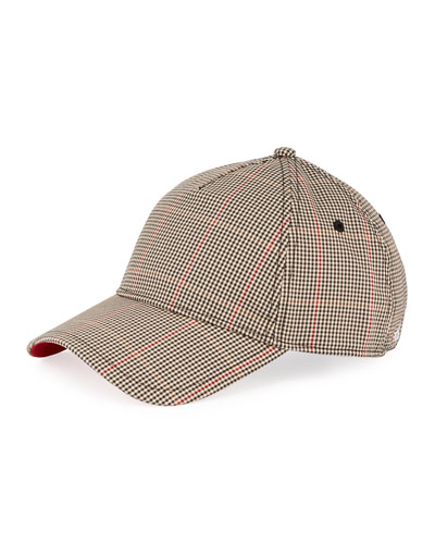 Marilyn Gingham-Print Baseball Cap
