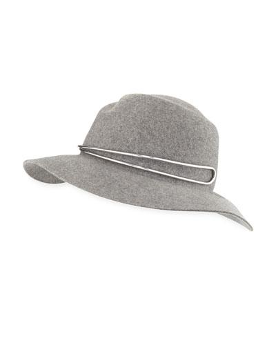 Zoe Fedora Hat w/ Silvertone Hardware