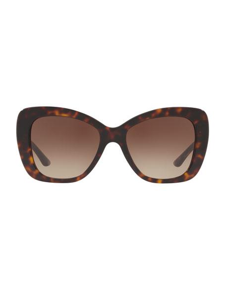 Gradient Oversize Cat-Eye Sunglasses