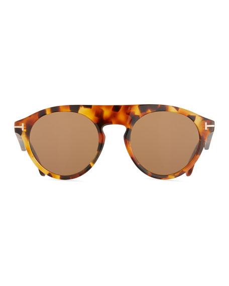 Flat-Top Round Sunglasses