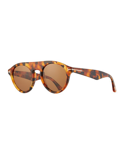 Flat-Top Round Sunglasses