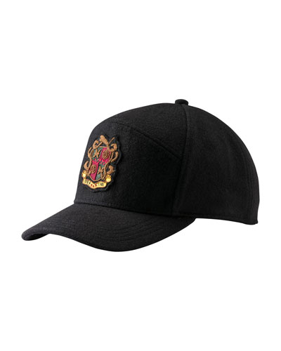 Woolen Baseball Cap with Crest