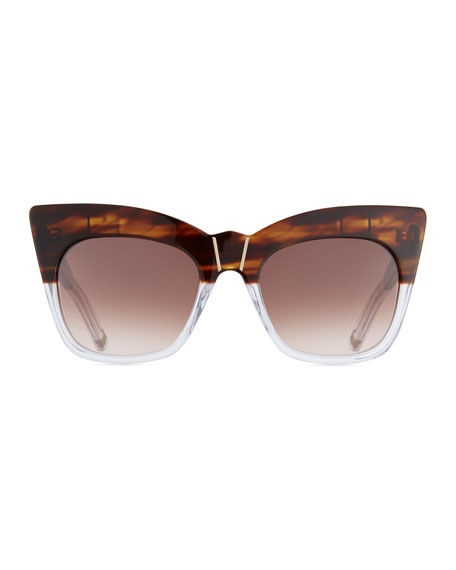 Kohl & Kaftans Two-Tone Cat-Eye Sunglasses
