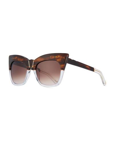 Kohl & Kaftans Two-Tone Cat-Eye Sunglasses