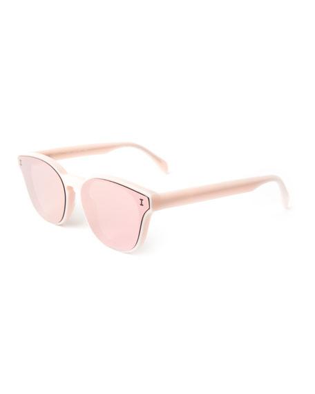 Rectangle Lenses-Over-Frame Sunglasses, Pink