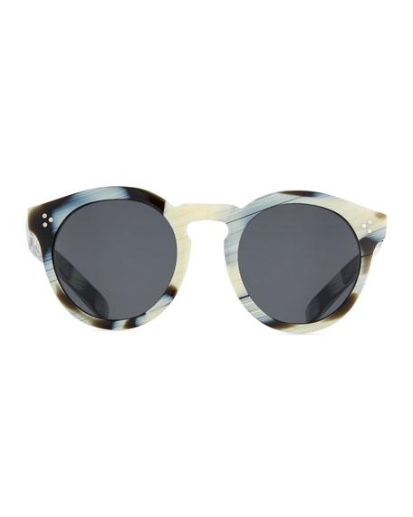 Patterned Round Monochromatic Sunglasses, Multi Pattern