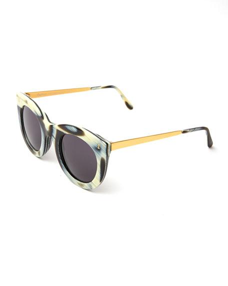 Boca II Cat-Eye Sunglasses, Multi Pattern