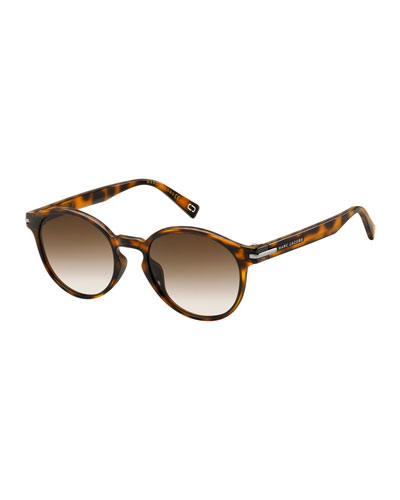 Round Gradient Keyhole Sunglasses