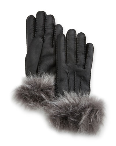 Three-Point Toscana Gloves w/ Shearling Cuffs