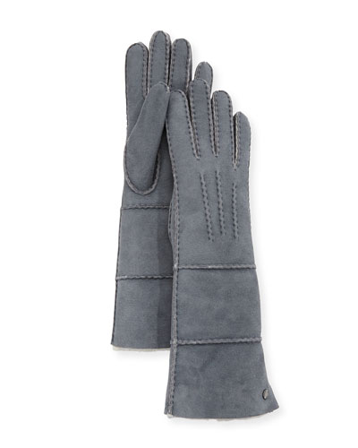 Long Pieced Sheepskin Gloves
