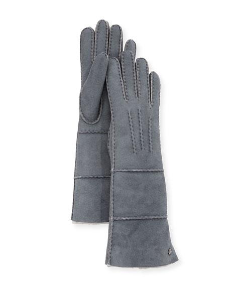 Long Pieced Sheepskin Gloves