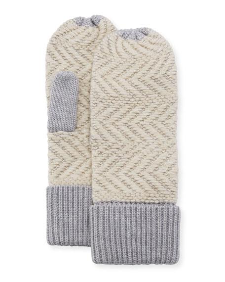 Chevron Wool-Blend Mittens