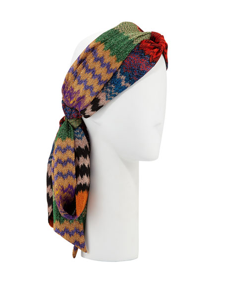 Knitted Zigzag Head Wrap