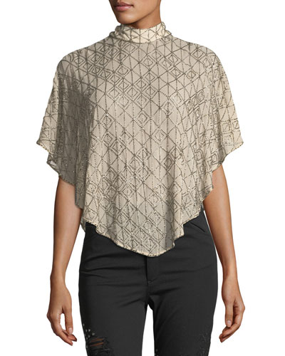 Quest Self-Tie Asymmetric Capelet