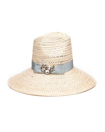 Carmen Sun Hat w/ Hat Band & Brooch