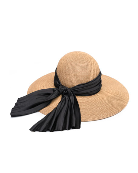 Honey Floppy Sun Hat with Satin Band