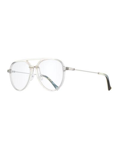 Praph Transparent Aviator Optical Frames, Gray